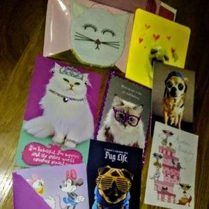 Accessories - bundle of animal oriented birthday &holiday cards